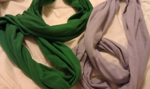 Potential infinity scarves -- just a wee bit short.