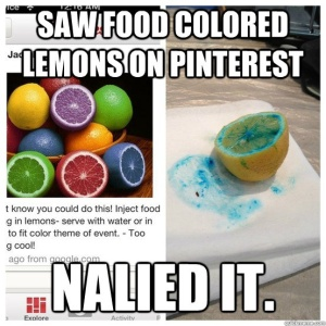 Yup. If I had a reason to color lemons, my result would probably look more like the FAIL picture.