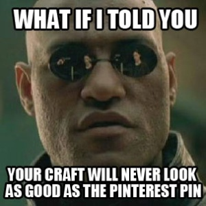 I think this photo is the perfect introduction to Pinterest fails