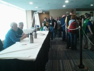 Kevin Murphy and Bill Corbett (two of the three guys of Rifftrax) were guests of honor at CONvergence