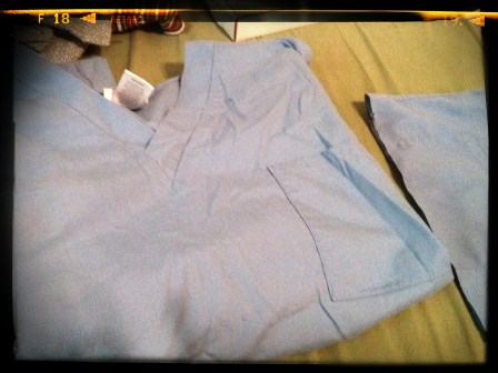 NOT TOO OLD PAIR OF SCRUBS