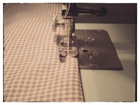 OBLIGATORY SEWING PHOTO :)