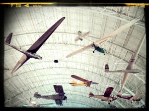 We visited one of the air and space museums in the area.