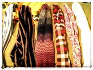 JUST A FEW OF MY SCARVES ...