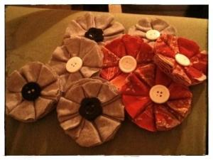 MY BEAUTIFUL FABRIC FLOWERS!