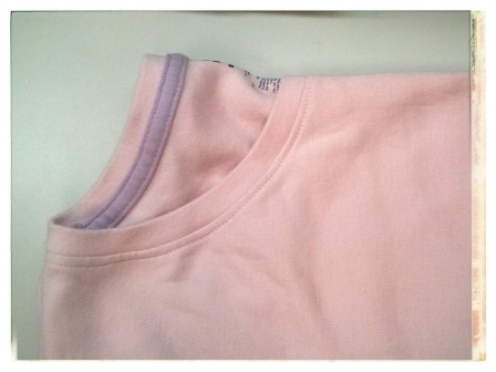 PINK TEE FOLDED IN HALF