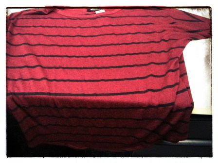 CORINNA STRIPED DOLMAN TOP