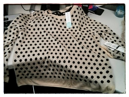 GIDEON REVERSIBLE POLKA DOT SWEATER