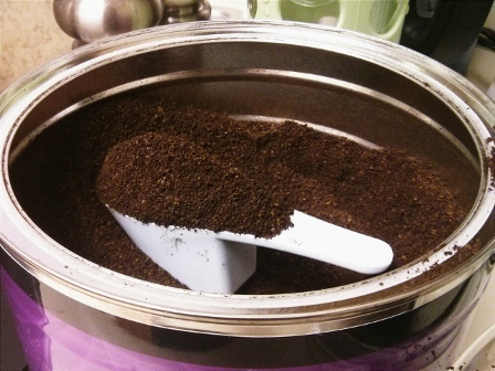 COFFEE CAN. 1/8 TSP SCOOP.