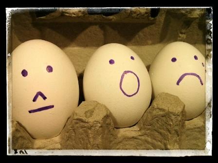 THREE SIMPLE EMOTICON FACES