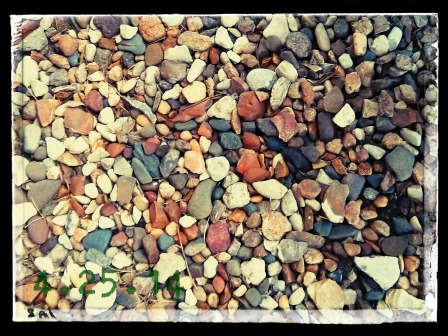 THE ROCK BED OUTSIDE MY TOWNHOME