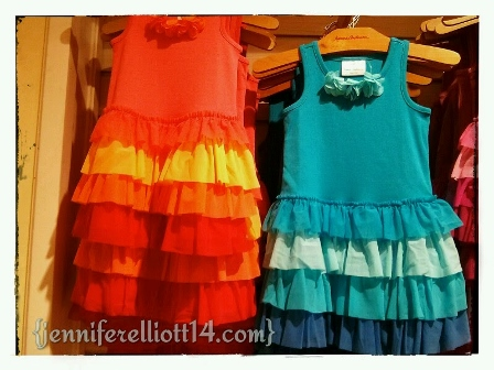 I WANT TO WEAR THE RUFFLY DRESSES!