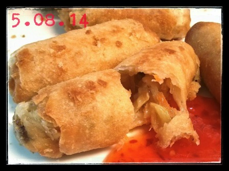 VEGETABLES SPRING ROLLS! YUMMY!